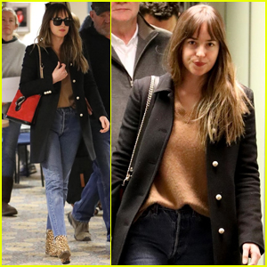 Dakota Johnson & Chris Martin Spotted Jetting Out of Paris Together Amid Dating Rumors