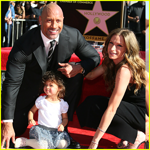Dwayne Johnson is Supported by Pregnant Girlfriend Lauren Hashian & Daughter Jasmine at Hollywood Walk of Fame Ceremony!