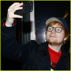Ed Sheeran Greets Fans While Heading to 'The Late Late Show' in Dublin!