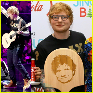 Ed Sheeran Hosts a Pizza Party Backstage at Jingle Ball LA