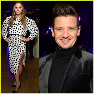 Elizabeth Olsen & Jeremy Renner Promote 'Wind River' in LA