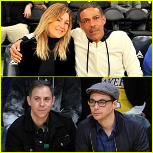 Ellen Pompeo & Jim Parsons Sit Courtside at Lakers Game!