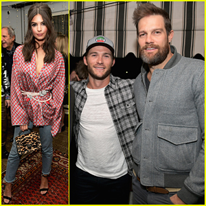 Emily Ratajkowski Gets Support From Scott Eastwood & More at The Kooples Collection Launch!