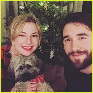Emily VanCamp & Josh Bowman Take a Cute Family Photo for Christmas