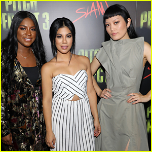 Ester Dean, Chrissie Fit, & Hana Mae Lee Promote 'Pitch Perfect 3' in Miami!