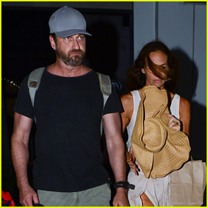 Gerard Butler & Girlfriend Morgan Brown Enjoy a Night in Miami!