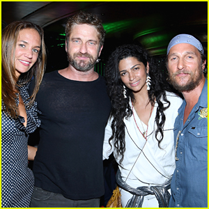 Gerard Butler & Girlfriend Morgan Join Matthew McConaughey & Camila Alves at Art Basel 2017!