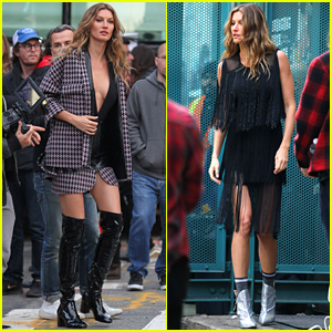 Gisele Bundchen Poses for Photo Shoot on Streets of NYC