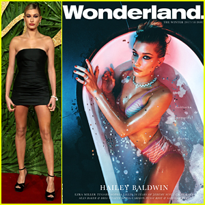 Hailey Baldwin Takes a Bath in Her Bikini in Sexy 'Wonderland' Cover!