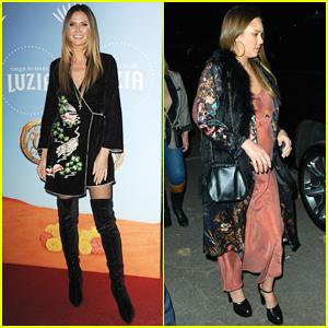 Heidi Klum & Jessica Alba Have Weeknight Out at Cirque du Soleil: Luzia Launch!
