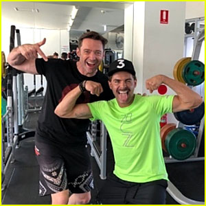 Hugh Jackman & Zac Efron Flaunt Their Muscles at the Gym!
