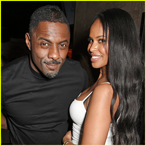 Idris Elba & Girlfriend Sabrina Dhowre Couple Up at His Christmas Party!
