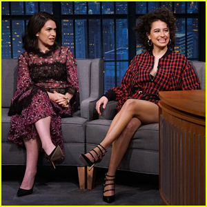 Ilana Glazer & Abbi Jacobson Tell Seth Meyers That Sexual Photo Shoots Inspired 'Broad City' Season Finale!