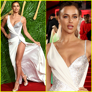 Irina Shayk Bares Legs for Days at Fashion Awards 2017