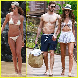 Izabel Goulart & Boyfriend Kevin Trapp Show Off Fit Bodies During Romantic Vacation Stroll!