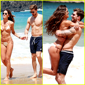 Izabel Goulart & Kevin Trapp Flaunt PDA & Their Hot Bodies in Brazil!