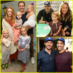 James Van Der Beek, Haylie Duff & More Get Into The Holiday Spirit at Santa's Secret Workshop Benefit!