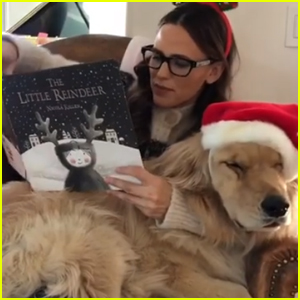 Jennifer Garner Reads Her Favorite Christmas Books to Her Adorable Pup - Watch Now!