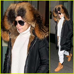 Jennifer Lopez Bundles Up to Shop at Hermes in Chilly NYC!