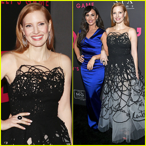 Jessica Chastain Gets Support from Real-Life Molly Bloom at 'Molly's Game' New York Premiere!