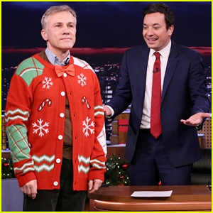 Jimmy Fallon Forces Christoph Waltz To Get Into Holiday Spirit on 'Tonight Show' - Watch Here!