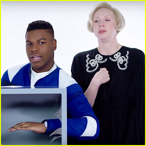 'Stars Wars' Co-Stars John Boyega & Gwendoline Christie Are Hilariously Terrified While Playing 'Fear Box' - Watch!