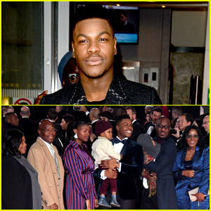 John Boyega Brings Parents & Family to 'Star Wars: The Last Jedi' Premiere!
