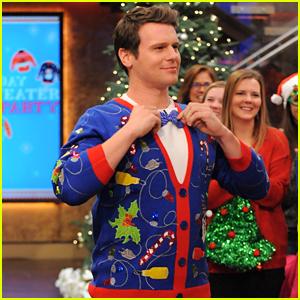 Jonathan Groff Found His 'Festive' Christmas Sweater at Walmart!