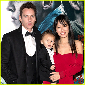 Jonathan Rhys Meyers & Wife Mara Walk Red Carpet with Their Son Wolf!