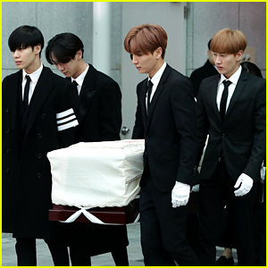 Jonghyun's Funeral Attended By His SHINee Bandmates