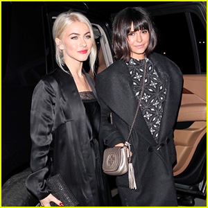 Julianne Hough & Nina Dobrev Have a Girls' Night Out at Jennifer Klein's Holiday Party!