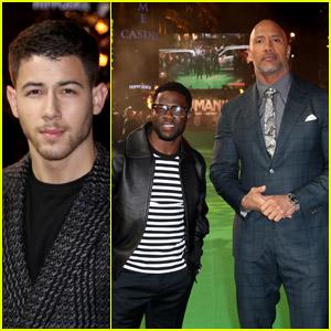 Nick Jonas, Kevin Hart & Dwayne Johnson Bring 'Jumanji' to London!