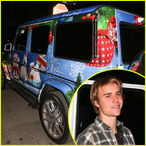 Justin Bieber's Car Is Totally Decked Out For Christmas!