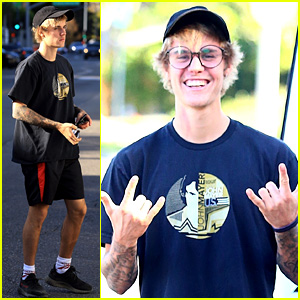 Justin Bieber Gets Lunch in Beverly Hills After a Morning Hike