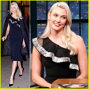 Karlie Kloss Promotes Her New Talk Show 'Movie Night' on 'Late Night' - Watch Here!