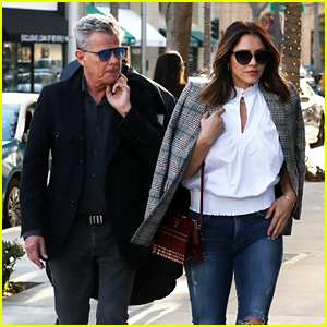 Katharine McPhee & Boyfriend David Foster Are a Fashionable Couple in Beverly Hills!