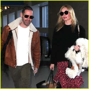 Kate Bosworth & Husband Michael Polish Show Off Their Airport Style!
