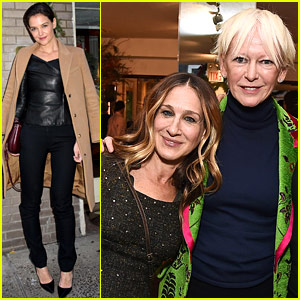 Katie Holmes & Sarah Jessica Parker Join Forces with Powerful Women at Hearst 100 Luncheon
