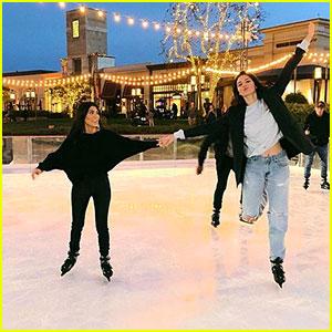 Kourtney Kardashian & Kendall Jenner Go Ice Skating - See the Pics!