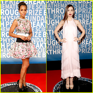 Kerry Washington & Lily Collins Hit the Red Carpet at Breakthrough Prize Ceremony 2018!