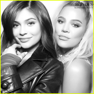 Pregnant Sisters Khloe Kardashian & Kylie Jenner Pose Together at Christmas Eve Party! (Photos)