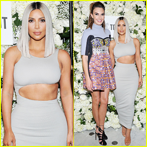 Kim Kardashian Helps Host The Tot Holiday Pop-Up Celebration!
