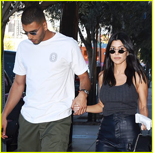 Kourtney Kardashian & Boyfriend Younes Bendjima Hold Hands After a Lunch Date!