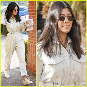 Kourtney Kardashian Rocks a Jumpsuit for on Her Coffee Run