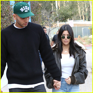 Kourtney Kardashian & Boyfriend Younes Bendjima Hold Hands on Lunch Date