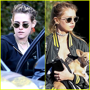 Kristen Stewart & Girlfriend Stella Maxwell Couple Up for Lunch Date