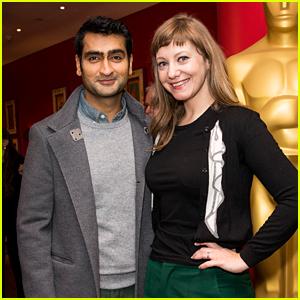 Kumail Nanjiani & Wife Emily Attend Academy Screening of 'Star Wars'