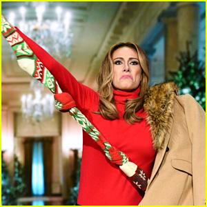 Laura Benanti Reprises Role as Melania Trump on 'Colbert'