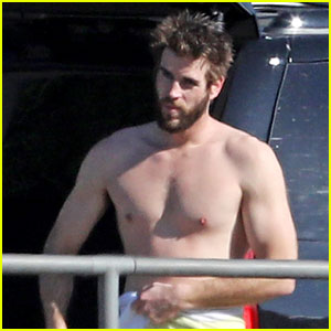 Liam Hemsworth Gets Shirtless After Surfing in Malibu - See Pics!
