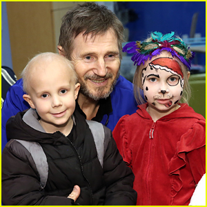 Liam Neeson Visits Kids at Ronald McDonald House in NYC!